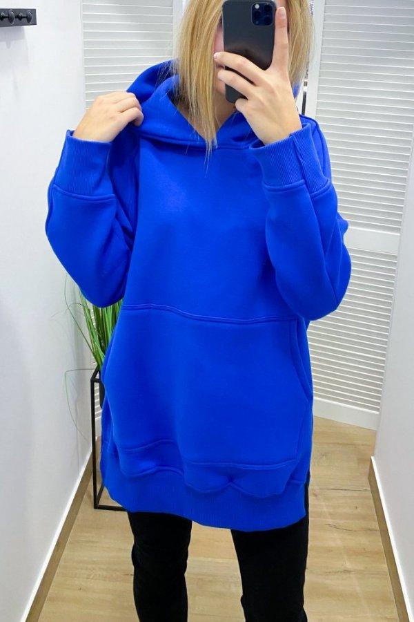 Bluza z kapturem long Trust blue