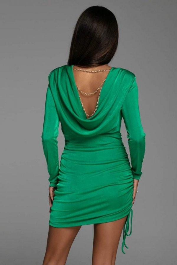 Sukienka z łańczuszkami Luna zielona